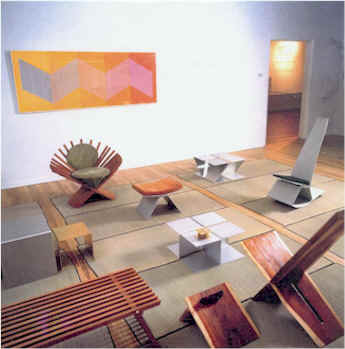 Merveilleux Exhibition Of The Furniture Of Robert Bliss, Salt Lake City Arts Council  Gallery, 1996. Paintings By Anna Campbell Bliss.